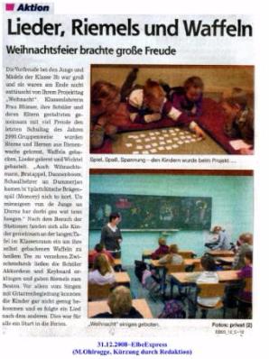 """(M.Ohlrogge, Veröffentlichung : 19.12.208 SVZ """"Lieder, Riemels und Waffeln / 31.12.208 ElbeExpress """"Lieder,Riemels und Waffeln"""")"""